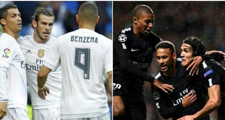"""Real Madrid-PSG / BBC apo MCN, cili është """"tridenti"""" më i mirë?"""