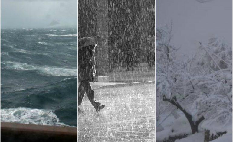 MOTI I KEQ/ Shqipëria nën pushtetin e dëborës dhe shirave. Nga zonat e bllokuara, tek alarmi i përmbytjeve (DETAJET)