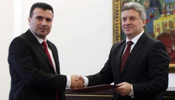 """Plas sherri në Maqedoni/ Ivanov """"përzë"""" Zaevin, takimi vetëm 6 minuta"""