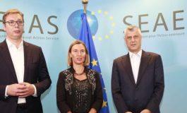Mogherini: Thaçi e Vuçiç do takohen pas disa javësh për të përfunduar rrugën e nisur