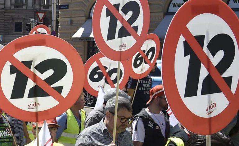 Orari i ri i punës me 12 orë në ditë, protesta të shumta në Austri(VIDEO)