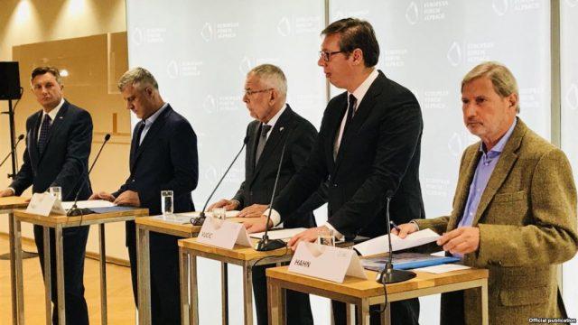 DIALOGU KOSOVË-SERBI/ Thaçi e Vuçiç kërkojnë mbështetje për marrëveshje që mund të lëvizë edhe kufijtë