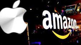 """Amazon dhe Apple """"SHTRËNGOJNË DUART""""/ Dyqani i """"mollës"""" do jetë zyrtarisht pjesë e rrjetit më të madh në botë"""