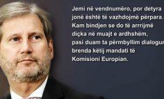 """""""JEMI NË VENDNUMËRO""""/ Hahn: Kosova e Serbia të ndalin provokimet"""