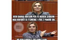 """""""BËJMË SIKUR MBAJMË DIETË/ Mona, Meta dhe...sallami!"""