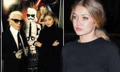 PREKËSE/ Gigi Hadid përlotet në sfilatën e koleksionit të fundit të Karl Lagerfeld për Fendi-n (VIDEO)