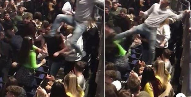 PAMJET SHOKUESE/ Në koncertin e Post Malone, burri SHKELMOI gruan në fytyrë  (VIDEO)