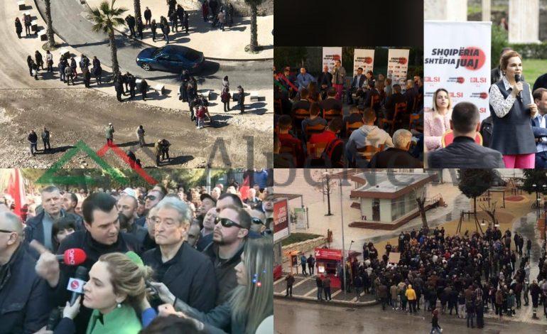 """PROTESTA/ Tik tak-u i """"lodhur"""" i OPOZITËS. Kërkon të vijë në pushtet me…50 veta (PAMJET NGA TAKIMET)"""