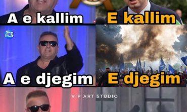 """HALLE"" PROTESTE/ E djegim...apo e psh*rrim?! (FOTO)"