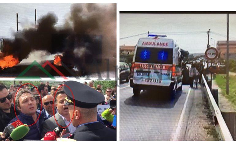 """""""STOP SE PO NDEZIM ZJARR""""/ Militantët """"MJEK"""" të PD dhe LSI-s bllokojnë ambulancën, i sëmuri kthehet… (FOTO)"""
