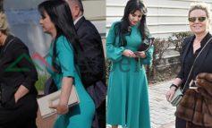 """""""MODA E RE"""" SI OPOZITA NË KUVEND/ Deputetja e LSI zgjedh fustanin e ngushtë pas trupit me çantën... (FOTO)"""