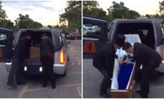 I TMERROI TË GJITHË/ Vajza shkon me arkivol në mbrëmjen e maturës (VIDEO)