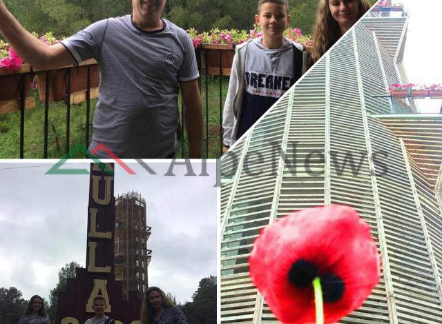 """""""SELFIE"""" TEK BALLKONI I DIVJAKËS/ """"Kulla 360º"""", plot me turistë edhe në ditë të…  (PAMJET)"""