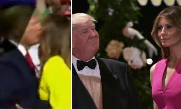 FUSHATA/ Melanie Trump refuzon të puthë në buzë Donald Trump, ja si reagon ai (VIDEO)