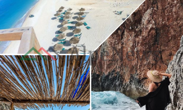 """""""STREHA"""" E TURISTËVE TË HUAJ/ Në plazhin Gjipe, aty ku pushimet janë si """"ëndërr"""" (PAMJET)"""