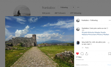 """VLERA E SHKODRËS/ Post of the day. Turisti çek """"sjell"""" Kalanë e Rozafës (FOTO)"""