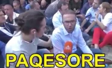 Kur Gazmend Bardhi thotë se protesta është... paqësore! (VIDEO)