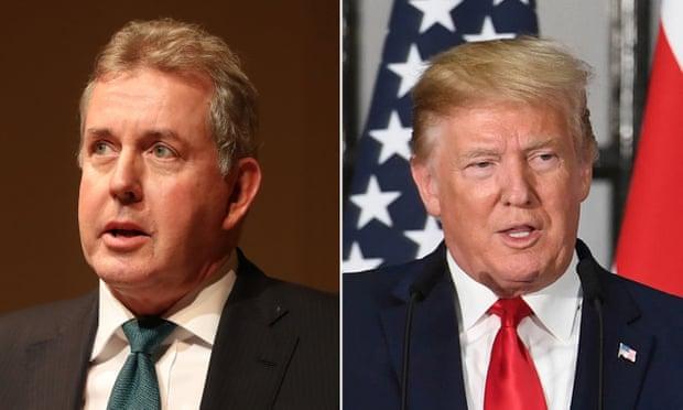 """""""TRUMP I PAAFTË""""/ Jep dorëheqjen nga posti ambasadori britanik në SHBA"""