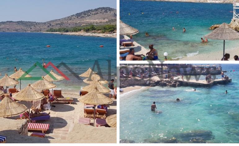 """NË """"KULMIN"""" E SEZONIT TURISTIK/ Ksamili plazhi ideal për të gjithë pushuesit (PAMJET)"""