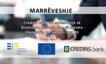 Credins Bank në mbështetje të bizneseve të vogla dhe të mesme shqiptare, me garanci nga BE