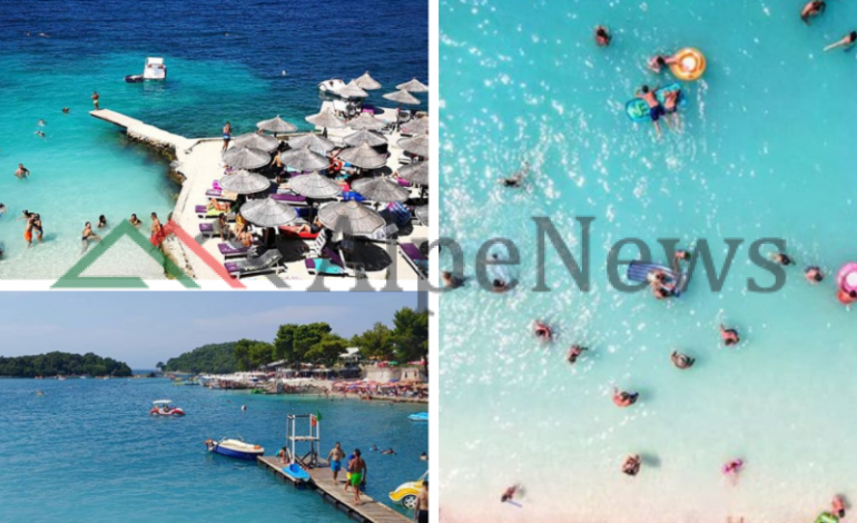 """NË """"KULMIN"""" E SEZONIT TURISTIK/ Plazhi i Ksamilit nuk """"merr dot frymë"""" nga pushuesit"""