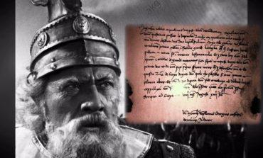 PUBLIKOHET LETRA E RRALLË/ E nënshkruar nga Gjergj Kastrioti Skënderbeu (FOTO)
