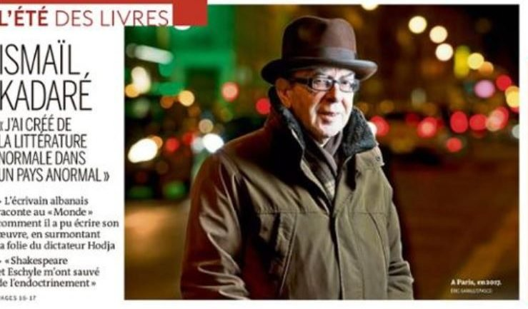 """""""SHKRIMTARË TË MËDHENJË BISEDA TË MËDHA""""/ Ismail Kadare për """"Le Monde"""": Të jetosh do të thotë të bësh letërsi"""