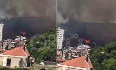 """VIDEO E """"FRIKSHME""""/ Zjarr në malin e Shëngjinit"""