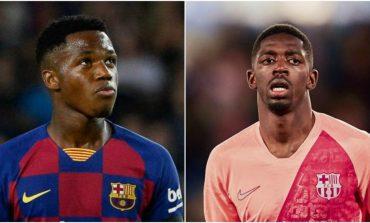 ANSU FATI OSE DEMBELE/ Një tjetër dilemë e Barcelonës për sfidën Champions