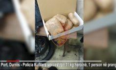11 KILOGRAM HEROINË NË GOMËN REZERVË TË MAKINËS/ Arrestohet në Durrës shqiptari që jeton në Zvicër (VIDEO)