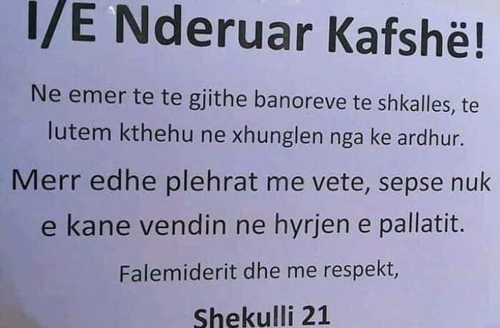 """""""TË NDERUAR KAFSHË…""""/ Njoftimi plot dashuri në hyrjen e pallatit në Tiranë"""