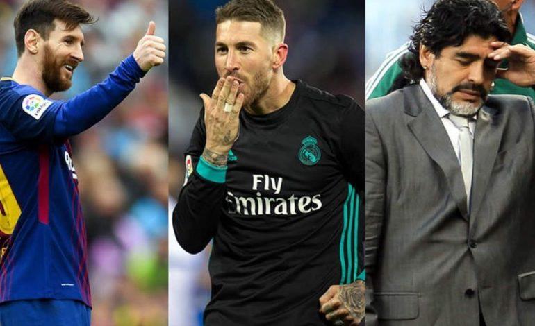 """""""DEBATI KUSH ËSHTË MË I MIRI RIKTHEHET SËRISH""""/ Messi apo Maradona? Përgjigja e Ramos është befasuese"""