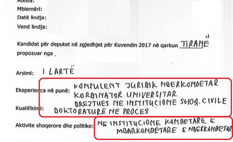"""PA KOMENT/ Zbulohet CV-ja e çuditshme e deputetit që po bën """"xhiron"""" e rrjetit"""