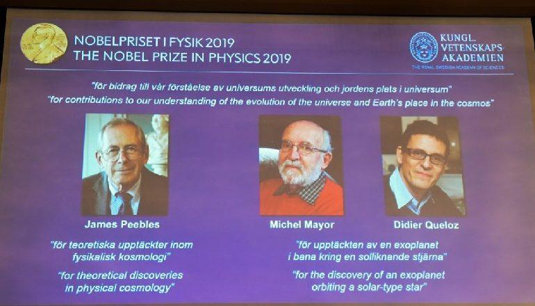 """""""51 PEGASI""""/ Çmimi Nobel në Fizikë shkon për James Peebles, Michel Mayor dhe Didier Queloz"""