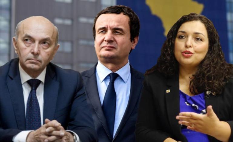 """""""PO PUNOJMË PËR…""""/ Albin Kurti takim """"KOKË MË KOKË"""" me Isa Mustafën dhe Vjosa Osmanin: Ky është fillimi i qeverisjes së re!"""