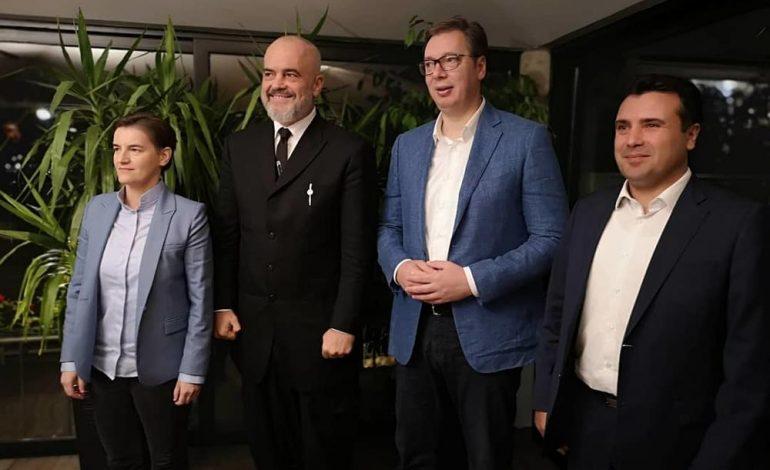 FOTOLAJM/ Rama takohet në Novi Sad me Vuçiç, Brnabiç dhe Zaev
