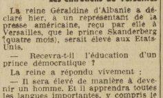 ZBULOHET BISEDA E RRALLË/ Mbretëresha Geraldinë-gazetarit amerikan: Djali im do të edukohet, së pari, që të bëhet burrë!