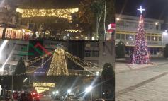 """POGRADECI NËN """"MAGJINË"""" E FESTAVE/ Ndizen dritat e pemës së krishtlindjes (FOTO)"""