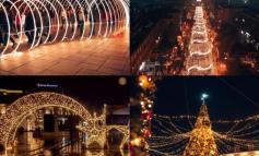 PAMJET MAHNITËSE/ Prishtina e zbukuruar për festat e fundvitit (FOTO)