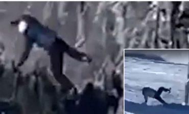 E PAZAKONTË NË BREZOVICË/ Momenti kur 30-vjeçari bie nga teleferiku (VIDEO)