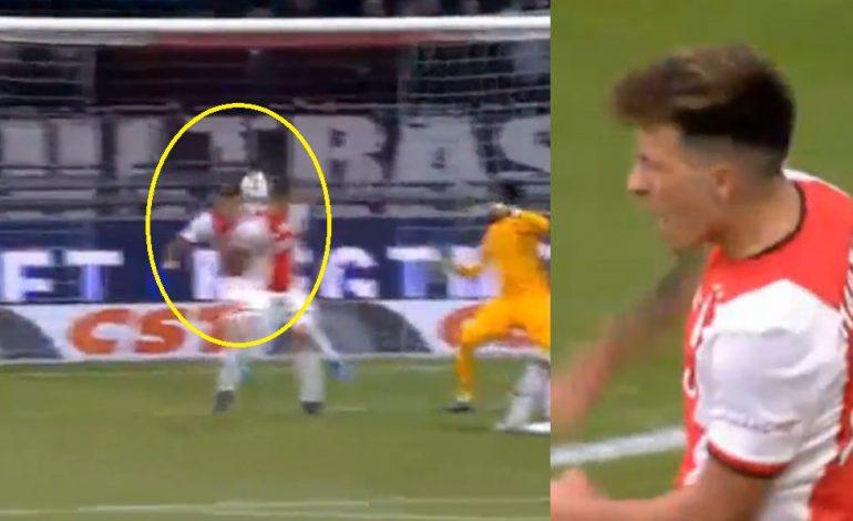 E PAMUNDUR NË HOLANDË/ Mbrojtësi i Ajax bën mrekullinë e sezonit (VIDEO)
