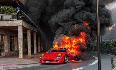 VLENTE 1 MILIONË DOLLARË/ Ferrari i rrallë shpërthen në flakë në Monte Karlo (FOTOT)