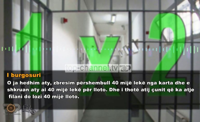 NDODH EDHE KJO/ Pikë bastesh brenda burgut të sigurisë së lartë të Peqinit