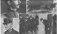 """""""EXCELSIOR"""" 1931/ Ceremonia mortore madhështore e major Topallajt, i cili u vra në atentat ndaj Mbretit Zog në Vjenë (FOTO)"""