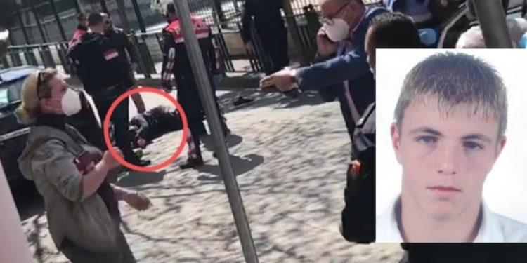 I PLAGOSUR NË KËMBË DHE I SHTRIRË PËRTOKË/ Momenti kur Orges Bilbili arrestohet nga policia (PAMJET)