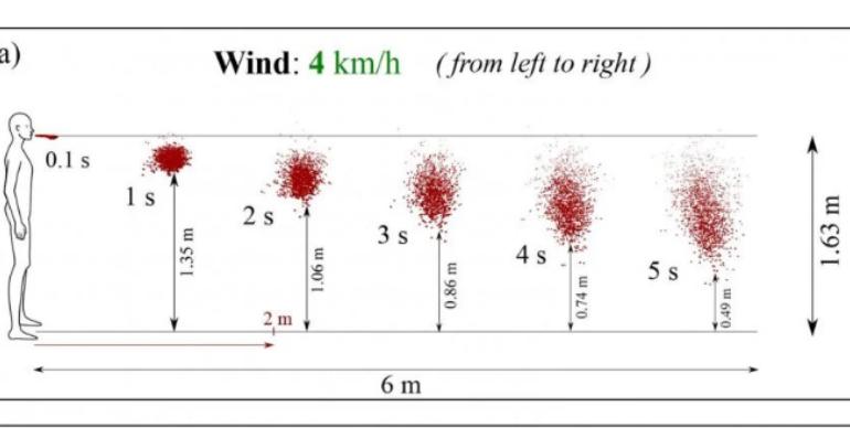 KORONAVIRUSI/ Pështyma fluturon mbi 5.5 metra brenda 5 sekondave, distanca 2 metra nuk parandalon Covid-19