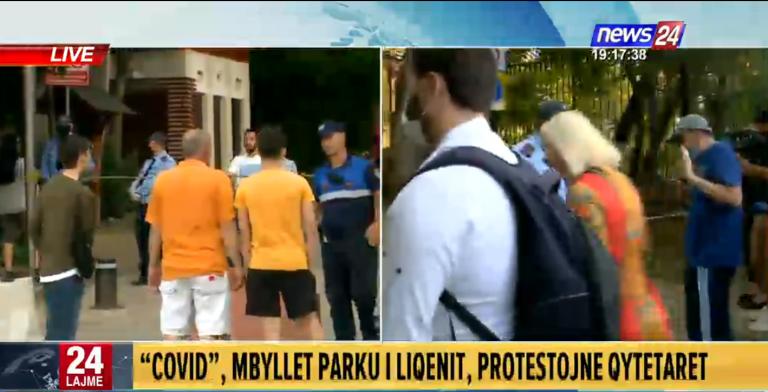 PROTESTË TEK LIQENI ARTIFICIAL/ Qytetarët thyejnë me forcë perimetrin. Policia përpiqet t'i ndalojë