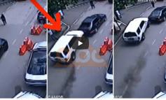 """ME SHPEJTËSI """"SKËTERRË""""/ Momenti kur i riu çan derën e policisë në Elbasan (VIDEO)"""
