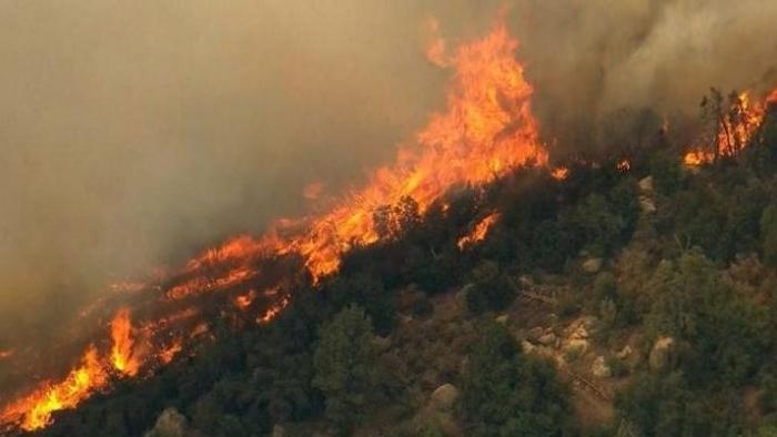 E RËNDË/ Zjarr i madh në Blinisht të Lezhës, flakët rrezikojnë disa banesa