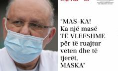 E RËNDËSISHME/ Apeli i Tritan Kalos: Ka një masë të vlefshme për të ruajtuar veten dhe të tjerët. Maska!